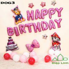 Sét Bóng sinh nhật Cún Chó Cứu hộ DOG3