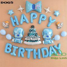 Sét Bóng sinh nhật Cún Chó Cứu hộ DOG5