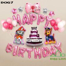 Sét Bóng sinh nhật Cún Chó Cứu hộ DOG7