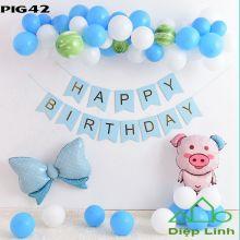 Sét bóng trang trí chủ đề heo PIG42