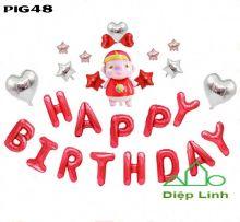 Sét bóng trang trí chủ đề heo PIG48