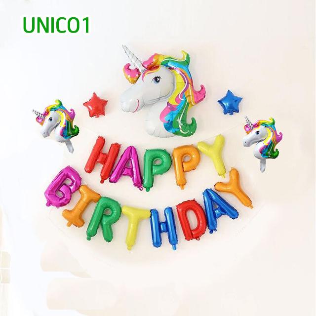 Set bóng trang trí sinh nhật ngựa Pony UNICO1