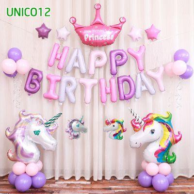 Set bóng trang trí sinh nhật ngựa Pony UNICO12