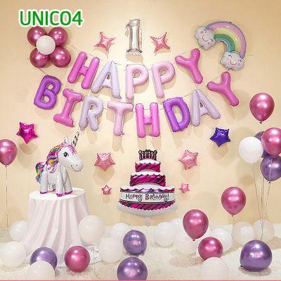 Set bóng trang trí sinh nhật ngựa Pony UNICO4