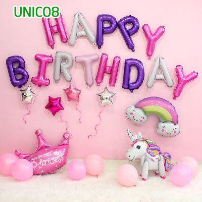 Set bóng trang trí sinh nhật ngựa Pony UNICO8