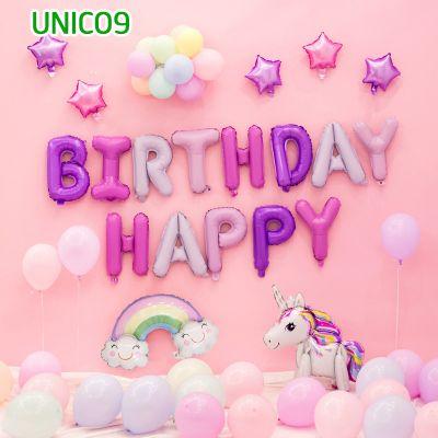 Set bóng trang trí sinh nhật ngựa Pony UNICO9