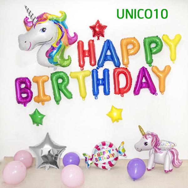 Set bóng trang trí sinh nhật ngựa Pony UNICO10