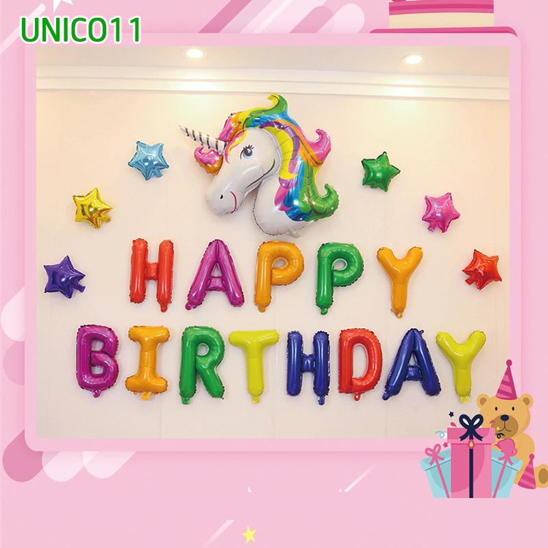 Set bóng trang trí sinh nhật ngựa Pony UNICO11