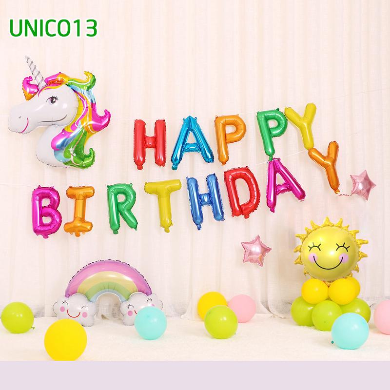 Set bóng trang trí sinh nhật ngựa Pony UNICO13