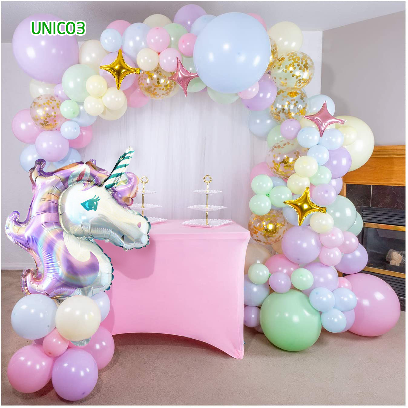Set bóng trang trí sinh nhật ngựa Pony UNICO3