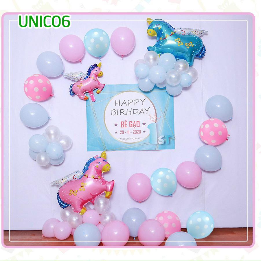 Set bóng trang trí sinh nhật ngựa Pony UNICO6