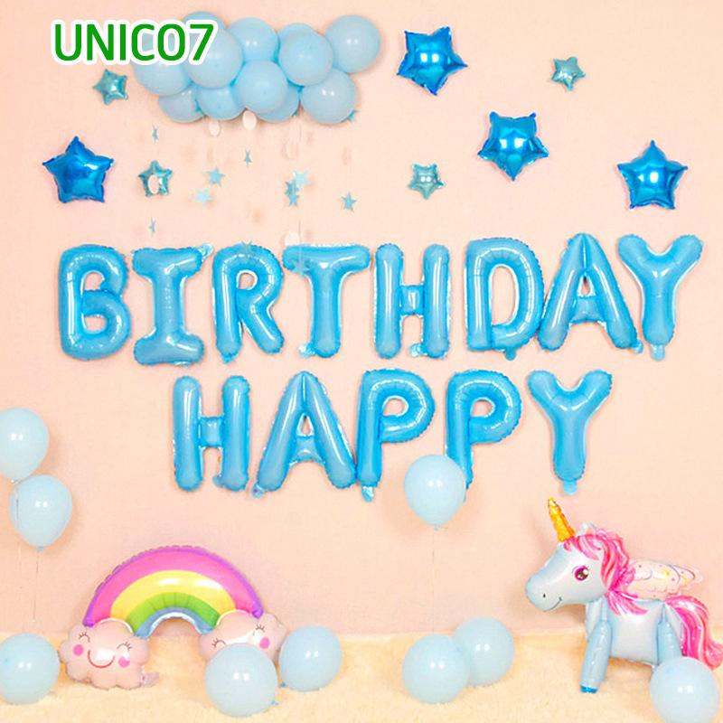 Set bóng trang trí sinh nhật ngựa Pony UNICO7