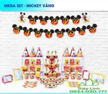 Sét Phụ Kiện Trang Trí Sinh Nhật Độc Đáo Chủ Đề Mickey Đỏ