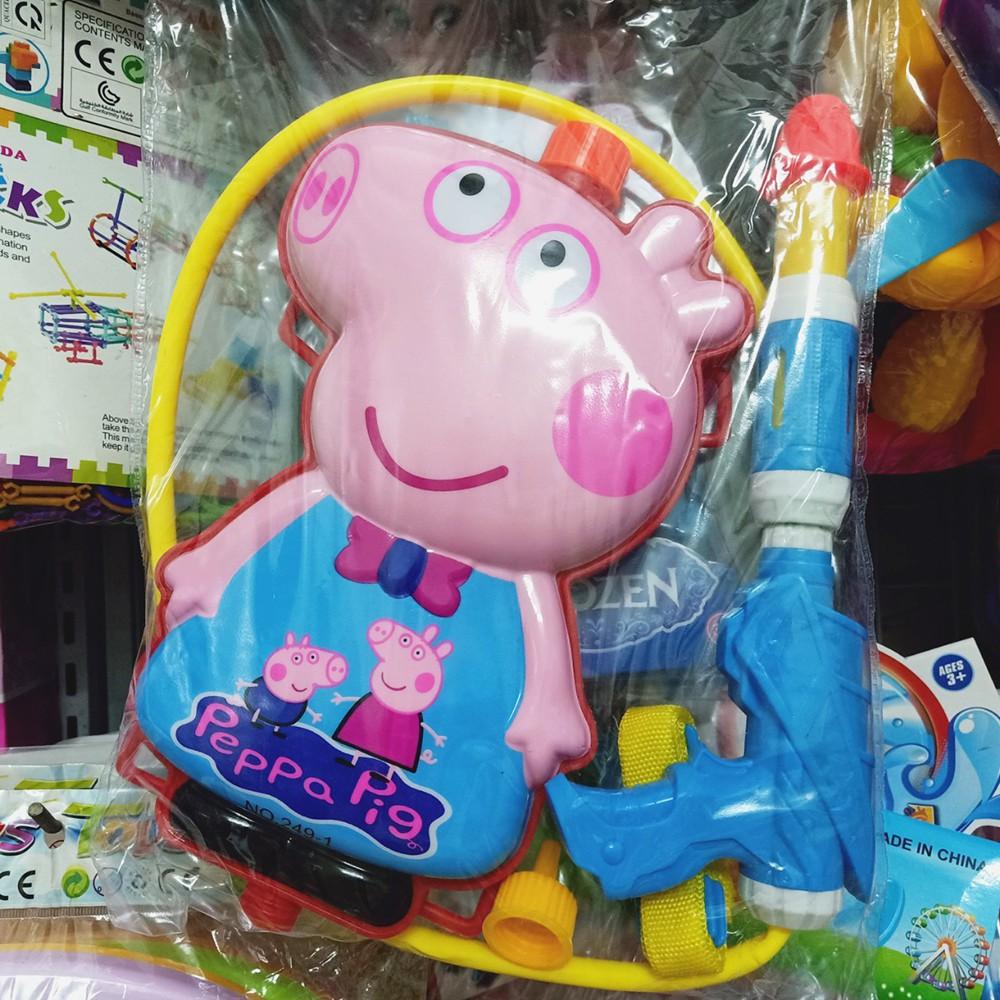 Balo súng nước đồ chơi hình Peppa - bongbongdep.com